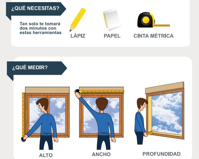 Cómo medir hueco de ventana